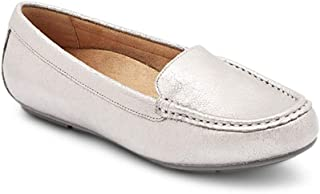 Vionic Women's Debbie - Driver Moccasin Flats with Concealed Orthotic Arch Support
