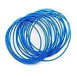 SRJQXH Azul Manguera Neumática, Longitud 10 Metros (32,8 Pies) Manguera de Aire de Poliuretano, Diámetro Exterior 4 mm/ Diámetro Interior 2,5 mm, para Herramientas Neumáticas Tubo de Aire