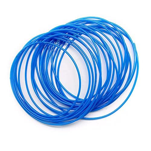 SRJQXH Manguera Neumática, Longitud 10 Metros (32,8 Pies)Manguera de Aire de Poliuretano, Diámetro Exterior 4 mm / Diámetro Interior 2,5 mm, Para Herramientas Neumáticas tubo de aire(Azul)
