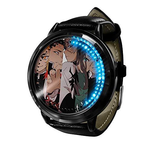 Tatapai Regalo de los niños Anime Luz de Noche Sensor Táctil Dormitorio 3D Ilusión Luz de Noche LED Anime Lámpara Colorido Control Remoto Luz de Noche Artilugios para el Hogar - 1