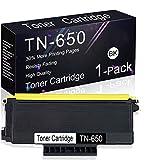 Compatible Toner Cartridge 1 Pack Black TN-650 Replacement for Brother MFC-8690DN, MFC-8680DN, MFC-8670DN, MFC-8660DN, HL-5370DW/DWT, HL-5270DN, HL-5240, DCP-8060, DCP-8065DN, DCP-8080DN Printers.