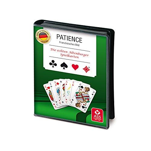 ASS Altenburger 22570092 - Patience, Kartenspiel, 2 x 55 Karten im Format 43,5 x 67,5 mm + Spielregeln, im Folienetui