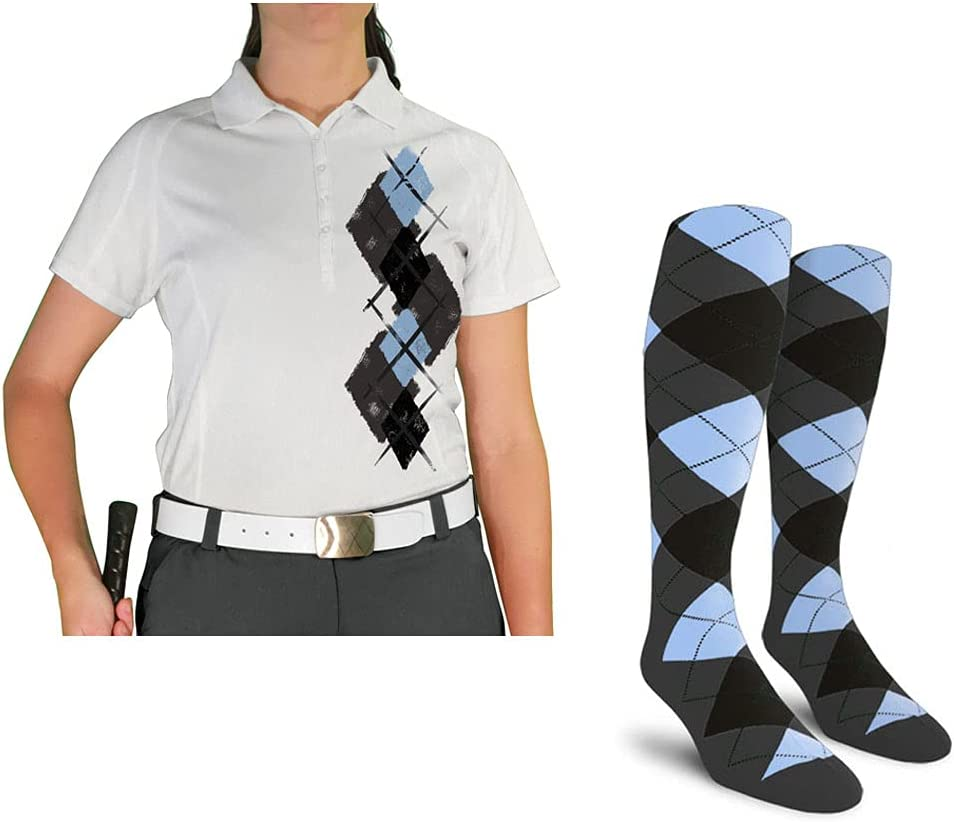 Ladies Argyle Paradise Golf Shirt Special price for a limited time -VVVV: with Bla Socks Topics on TV Charcoal