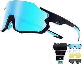 HTTOAR Gafas de Sol de Ciclismo Deportivo Material TR90 Intercambio de 3 Lentes Adecuado para Correr Bicicleta Pesca Conducir Diversas Actividades al Aire Libre