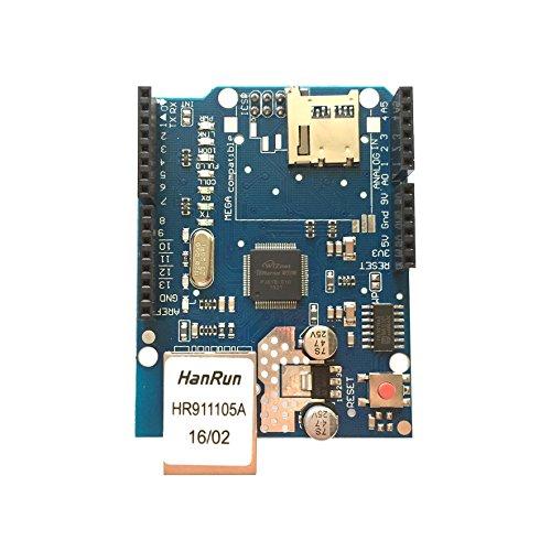 AptoFun Ethernet W5100 - Cartel con Ranura para Tarjetas Micro SD para Arduino Uno/Mega 2560 Mega1280 Atmega 328