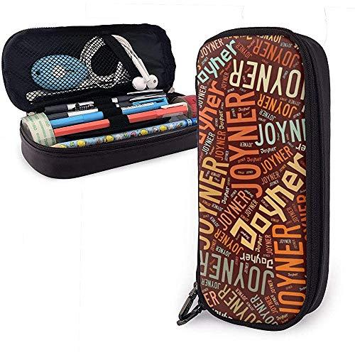 Joyner - American Nachnamen Hochleistungs-Federmäppchen aus Leder Bleistift Stift Schreibwaren Halter Veranstalter Schule Filzstift Student Schreibwaren Tasche