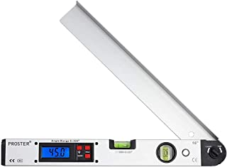 Digital Angle Gauge, 0-225 Degree 16 inch/ 400mm, Inclinometer Protractor Goniometer Backlit LCD, Electronic with Level Bubble