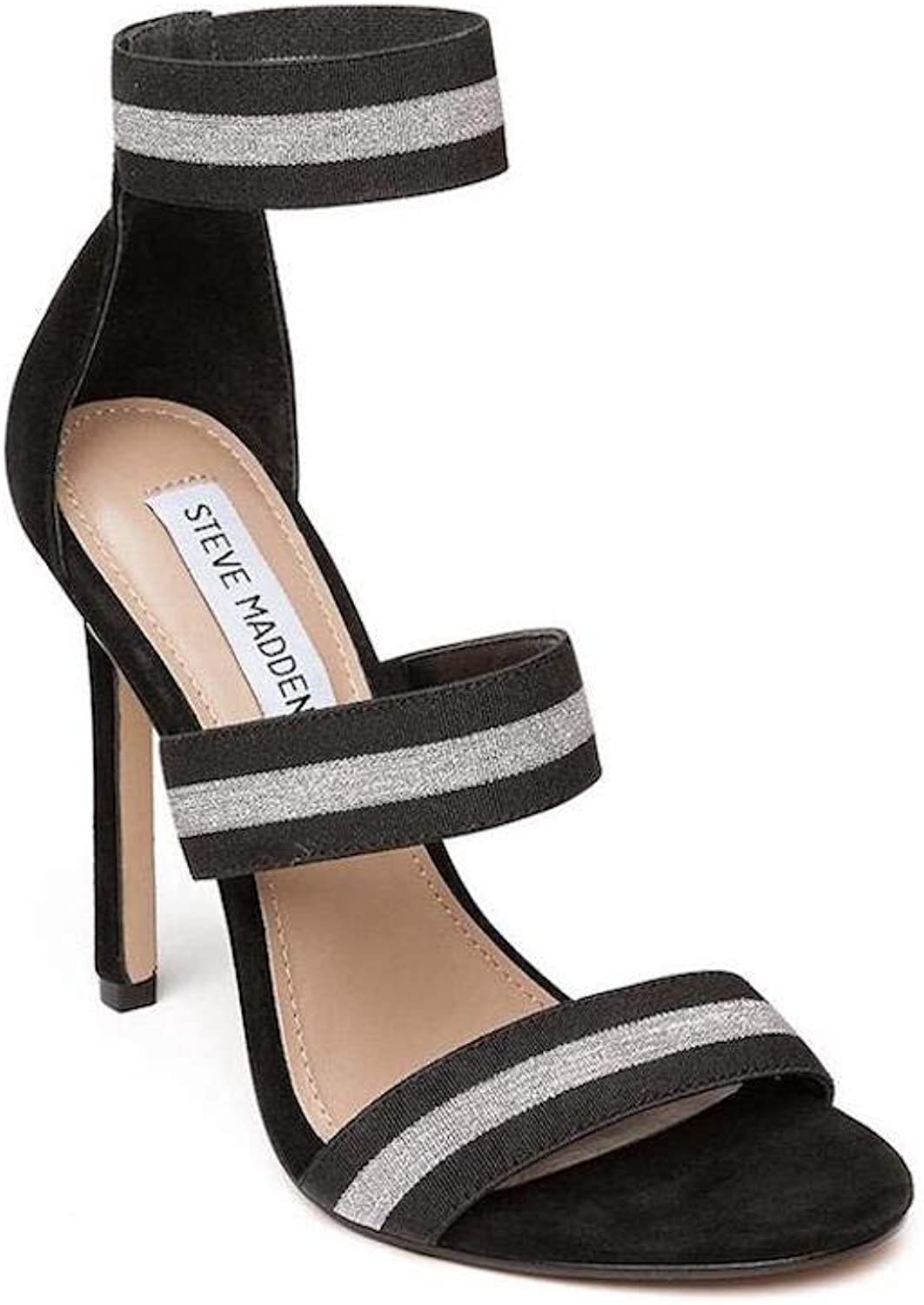 Steve Madden Womens Crave Open Toe Special Occasion Ankle Strap Sandals