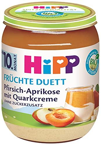 HiPP Bio Früchte-Duett Pfirsich-Aprikose mit Quark-Creme, 160 g