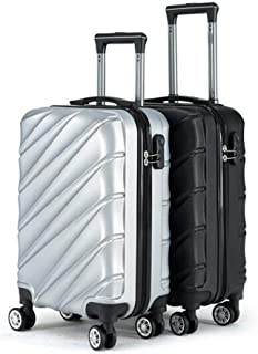 Luggage, ABS Material Business Unisex Suitcase, Black, Large Capacity Travel Equipment (Color : Silver)