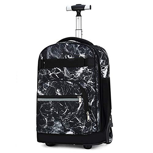 ZXY Impermeabile Portatile di rotolamento Borsa, 18' 4 Laptop Wheeled Travel Bag Ruote Cartella con telescopica Maneggiare con Materiali Riflettenti,D