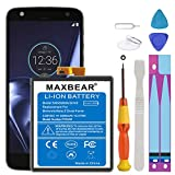 (Upgraded) Moto Z Droid Force Battery, MAXBEAR 3500mAh Li-Polymer Built-in Battery SNN5968A GV40 Replacement for Motorola Moto Z Droid Force XT1650 with Repair Tool Kits.[12 Month Warranty]