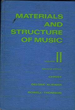 Hardcover Materials and Structure of Music Vol. II 2nd Edition Book