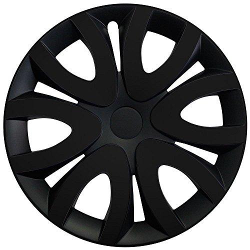 Autoteppich Stylers Radkappen/Radzierblenden 15 Zoll MIKA SCHWARZ (Farbe wählbar) passend für Fast alle Fahrzeugtypen – universal
