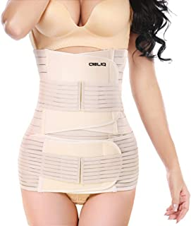 obliq 3 in 1 Post Pregnancy Belt for Belly, Waist & Pelvis Slimming Shapewear for After Delivery C-Section Abdomen/Tummy R...