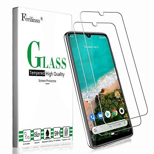 Ferilinso Cristal Templado para Xiaomi Mi A3 Cristal Templado, [2 Pack] Protector de Pantalla Screen Protector para Cristal Templado Xiaomi Mi A3
