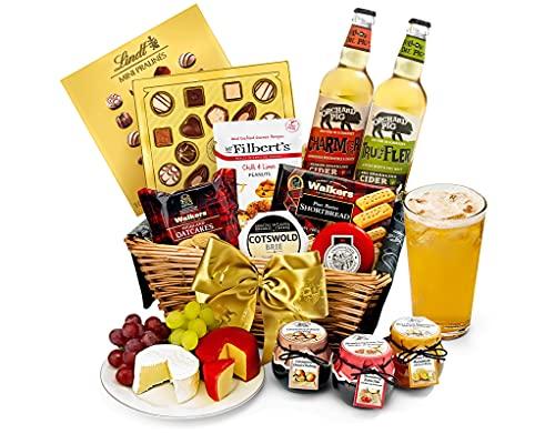 Trafalgar Hamper With Cider - Hand Wrapped Food Basket, in Gift Hamper Box
