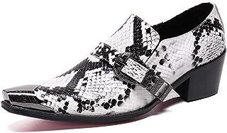YOWAX Chaussures en Cuir Business Homme Souliers Simple Chaussures de Travail Robe Hommes Bureau à la Mode Mocassins