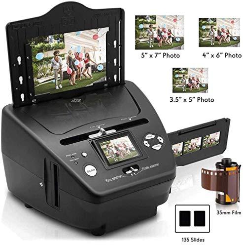 Digital 3-en-1 Photo Scanner Slide and Film Scanner - Convertir Negativos de película de 35 mm y Diapositivas de Amplificador - con HD 5 1 MP - Pantalla LCD Digital fácil de Usar Uptodate