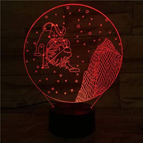 zhkn Kreative Nachtlicht Bluetooth Lautsprecher Basis Leo Bild 3D Led 7 Farben USB Nachtlicht Berühren Steuerung Tischlampe Atmosphäre Lampe