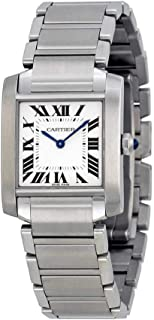 Tank Francaise Silver Dial Stainless Steel Ladies Watch WSTA0005