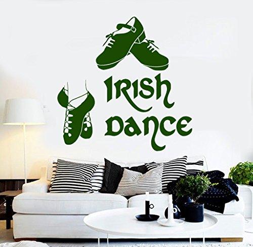 Vinyl Wall Decal Irish Dance Ireland Dancer Celtic Art Stickers (ig4283) Black