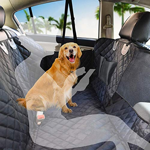SUCAYU Dog Car Seat Cover for Back Seat Covers Waterproof Non-Slip Scratch Resistant Hammock with Zipper