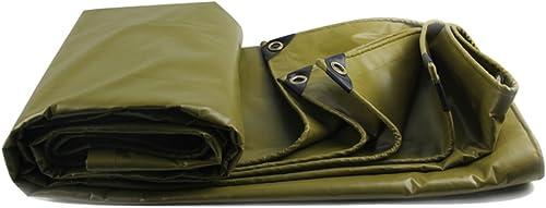 Bache HUO épaissir La, Tissu Durable De Hangar, Linoléum Imperméable De Toile Anti-UV, 530g   M2 (Couleur   Armée Verte, Taille   5  6m)