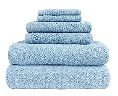 Everplush Diamond Jacquard Bath Towel 6 Piece Value Pack