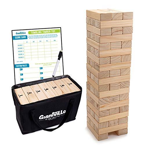 Giant Tumbling Timber Toy - Jumbo JR. Wooden Blocks Floor Game for...