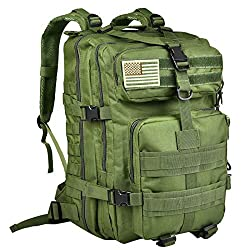 50%OFF CVLIFE 40L Military Tactical Backpack 3 Day Assault Pack Army Rucksack Molle Bag