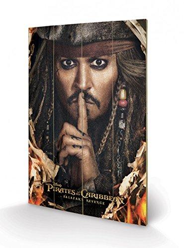 1art1 Piratas del Caribe - La Venganza De Salazar Cuadro De Madera (60 x 40cm)