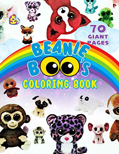 Beanie Boo's Coloring Book: Great Coloring Book for Kids and Fans – 70 GIANT Pages to Coloring - 35 High Quality Images