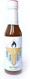 Small Batch Hot Sauce #3 'DIRE' 5oz Bottle : Spice Up Your Taste Buds With A Blend of Local & Organic Red Savina Habanero Peppers | 4500 Scoville Heat Units (300 ppm) Incredible Flavor and Heat