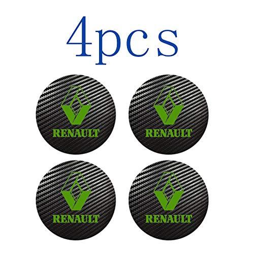 WOLHJ Tapacubos 4pcs 56mm 60mm 65 mm Compatible con Renault Sport Badge Logo Center Caps Caps Alloy Rim Rueda Hub Pegatinas (Color Name : Green, tamaño : 57 mm)