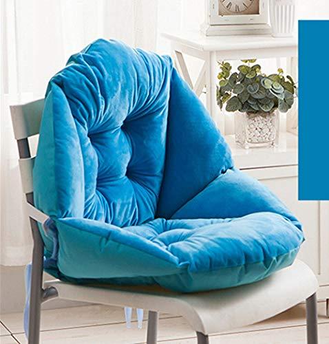 GLITZFAS Stuhlauflage Dicke Sitzauflage Niedriglehner Auflage Sitzkissen Niederlehner Stuhlkissen (48x40cm,Blau)