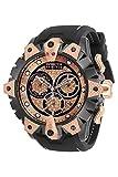 Invicta Men's Reserve Venom Stainless Steel Quartz Watch with Silicone Strap, Black, 26 (Model: 32131)