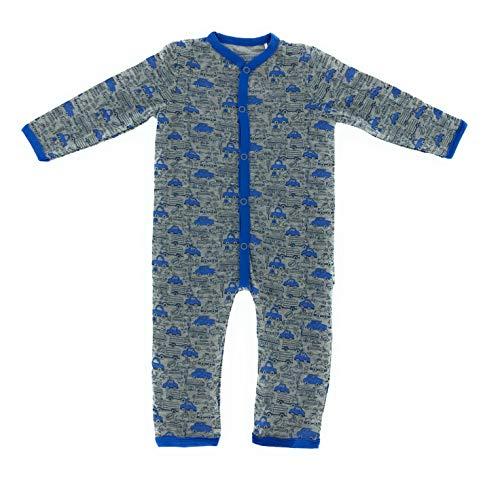 Baby Bio Baumwolle Langarm Strampler Pyjama Schlafanzug 62-68 74-80 Auto (6-12 Monate - Größe 74-80)