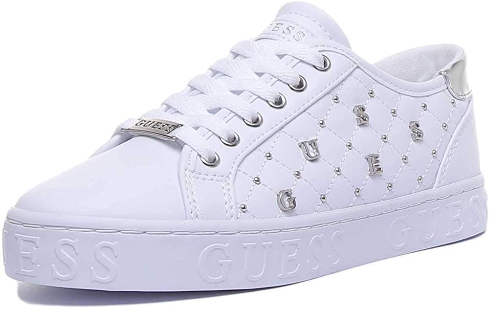 Guess,scarpe sneakers per donna,in pelle sintetica,con logo in metallo FL5GLA ELE12