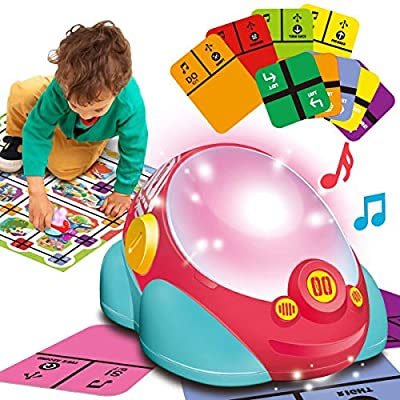 Gilobaby Kids Learning Code & Go Robot Toys, Educational Coding STEM Toy Gift for Kids Age 5 6 7 8 Year Old, Robotics with Light, Music, Dancing and Puzzle