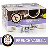 French Vanilla for K-Cup Keurig 2.0 Brewers, Victor Allen's Coffee Medium Roast Single Serve Coffee Pods, 80 Count