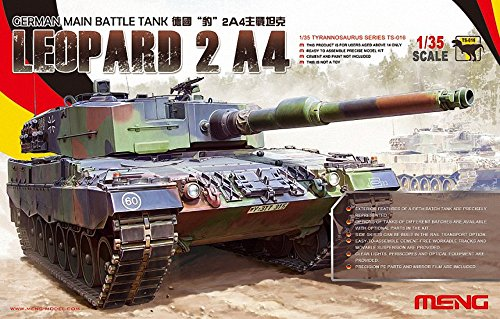 Meng TS-016 - Kit Modelo alemán Tanque de Batalla Principal Leopard 2 A4