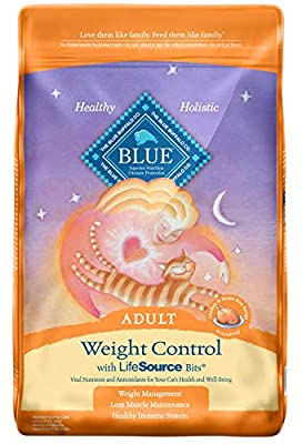 Blue Buffalo Weight Control Natural Adult Dry Cat Food, Chicken & Brown Rice 15-lb, Blue Buffalo Blur For Cats Weight Control