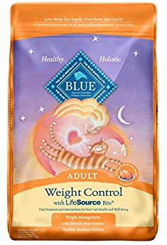 Blue Buffalo Weight Control Natural Adult Dry Cat Food Chicken & Brown Rice 15-lb