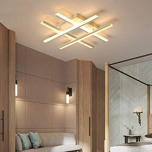 W-LI Deckenleuchte 4-Lampe Einfache Stube Deckenleuchte Kreative Deckenleuchte Schlafgemach Lampe Stubenlampe Deckenbeleuchtung Acryllampe 70 cm Warmes Licht 3000 K