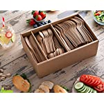 Stack Man 100% Compostable Plastic Silverware, Large Premium Heavy-Duty Flatware Utensils Eco Friendly BPi Certified, 7…