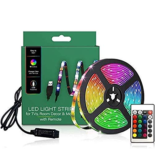 TV Led Lights,Tv Led Backlight USB,LED Strip Lights 6.56ft for TV 46-60 inch, LED Rope Lights for...