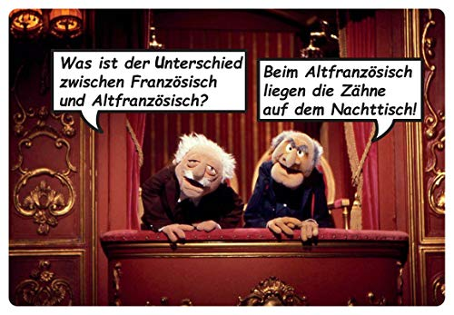 Blechschild 20x30cm gewölbt Waldorf Statler Muppet Show Unterschied Deko Geschenk Schild