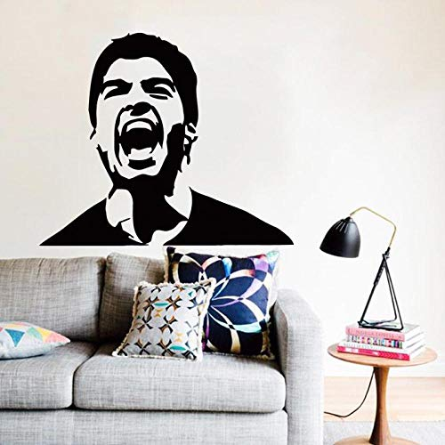 Decoración del hogar Vinyl Football Player Louis Suarez Pegatinas de pared Decoración para el hogar móvil Football Star Sports Decal Pegatinas de pared58cm x 48cm