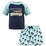 Hudson Baby Unisex Swim Rashguard Set, Surf Car, 2 Toddler